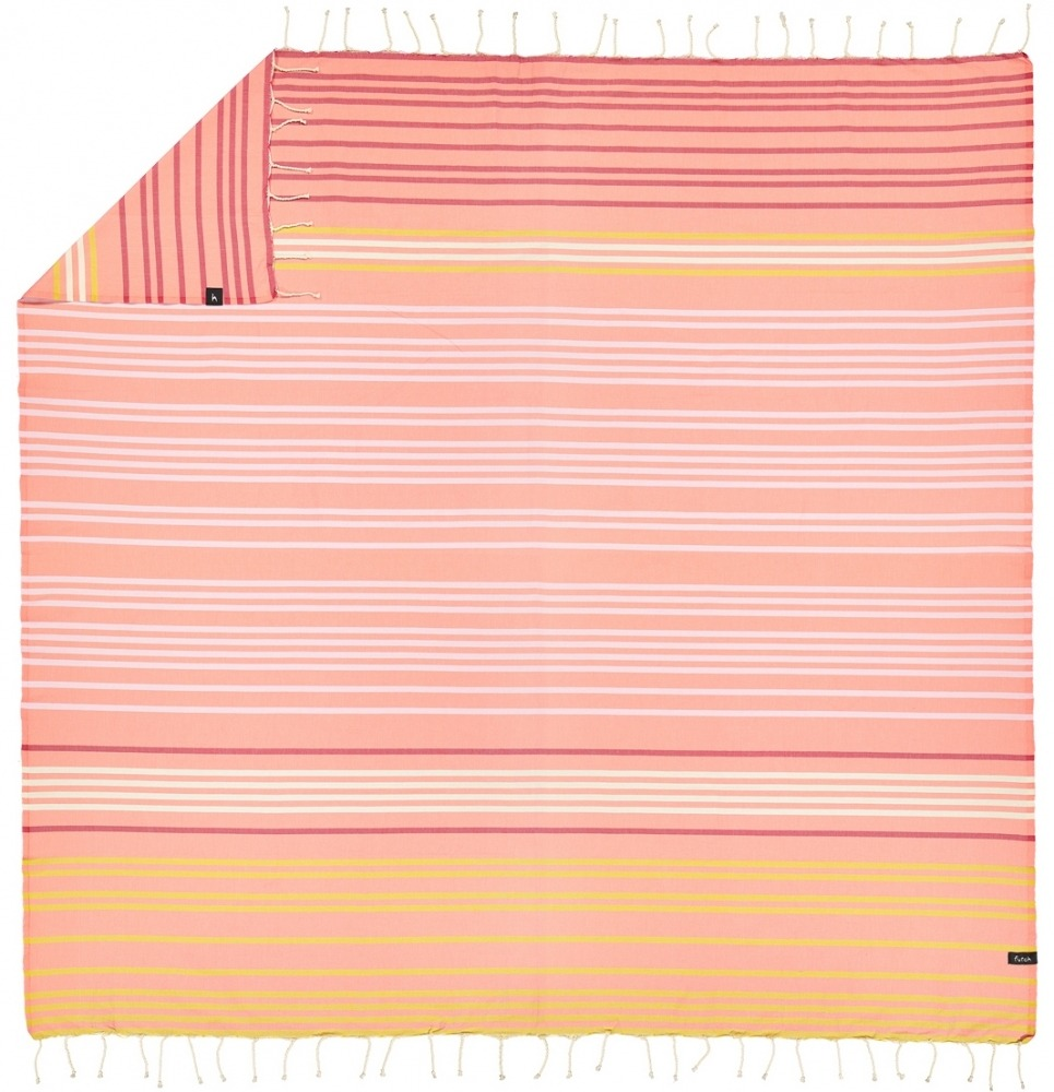 futah beach towels double Supertubos XL Towel Peach Back