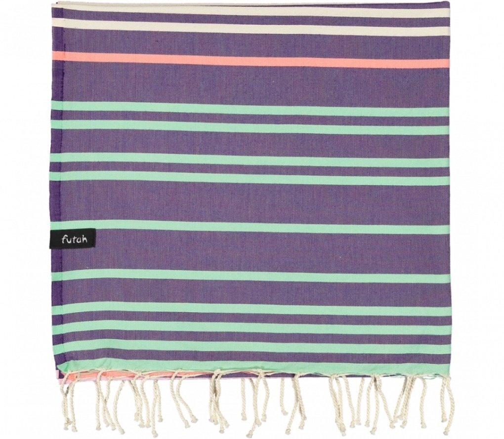 futah beach towels single Supertubos Single Towel Purple Folded