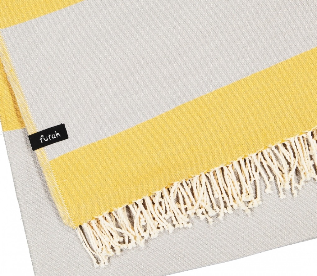 XL Towel Formosa Mustard Grey Detail