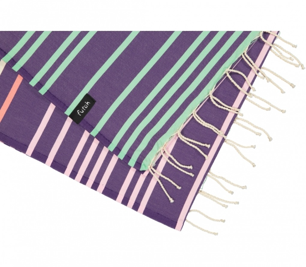 futah beach towels single Supertubos Single Towel Purple Detail