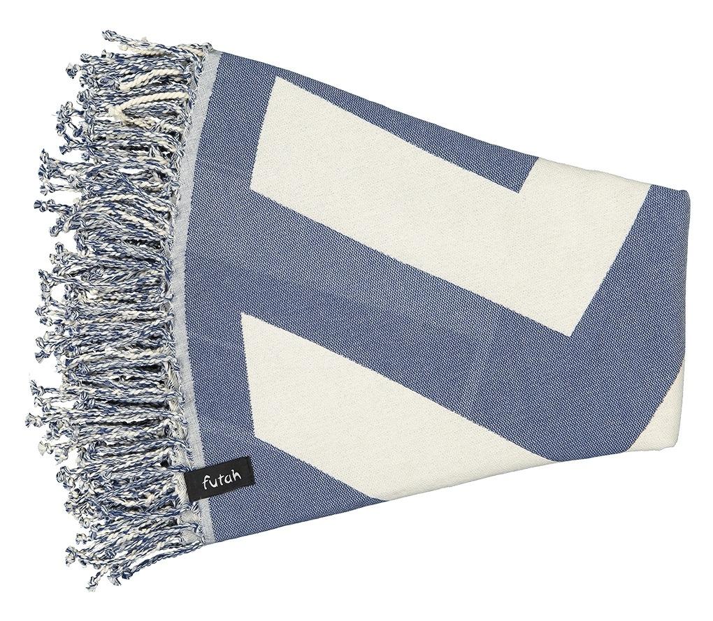 Round Towel Malcata Blue _Folded