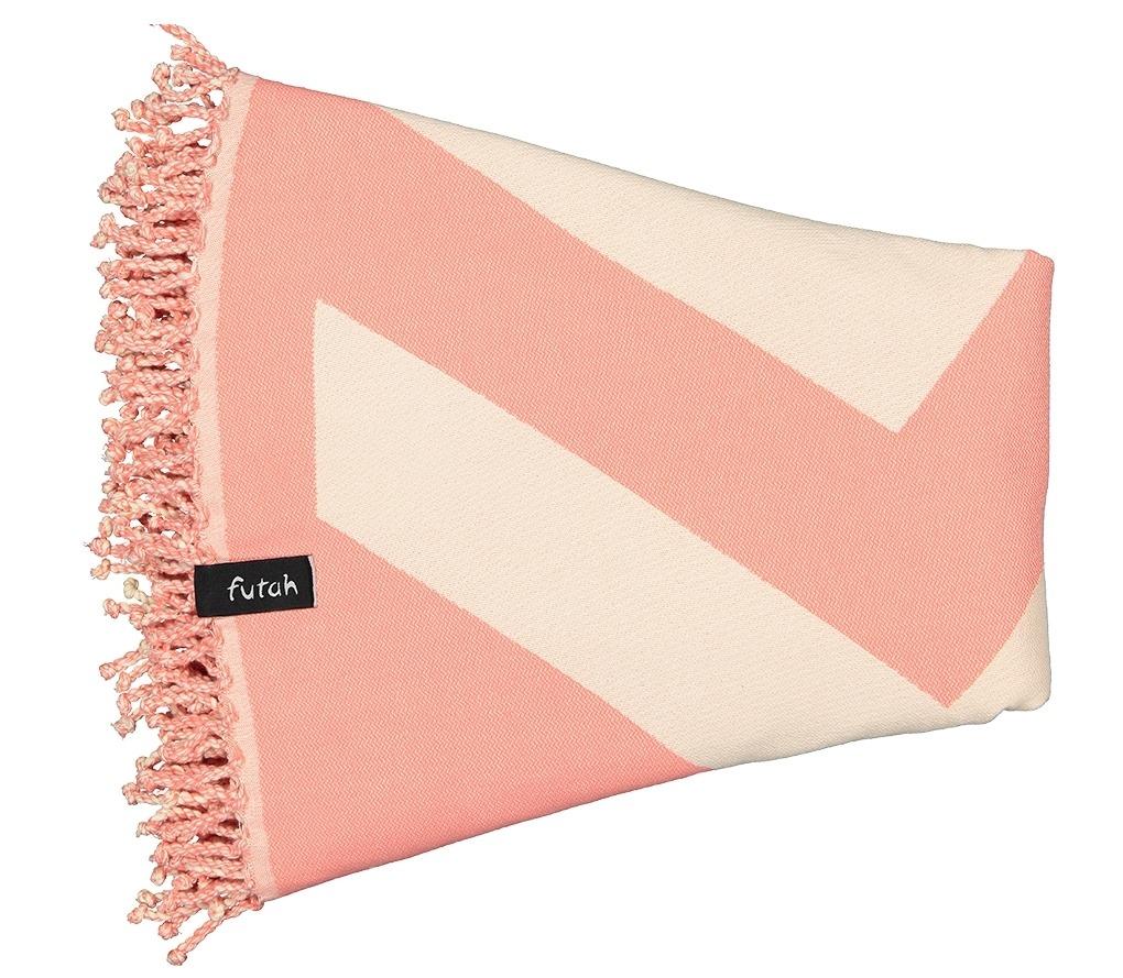 Round Towel Malcata Coral_Folded