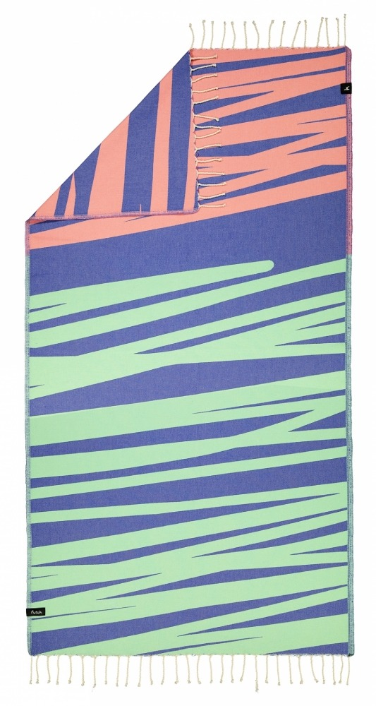 AMOROSA_BLUE_SINGLE BEACH TOWEL_5600373064330_2