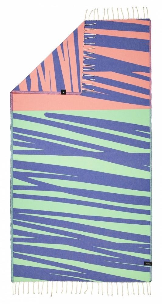 AMOROSA_BLUE_SINGLE BEACH TOWEL_5600373064330_1