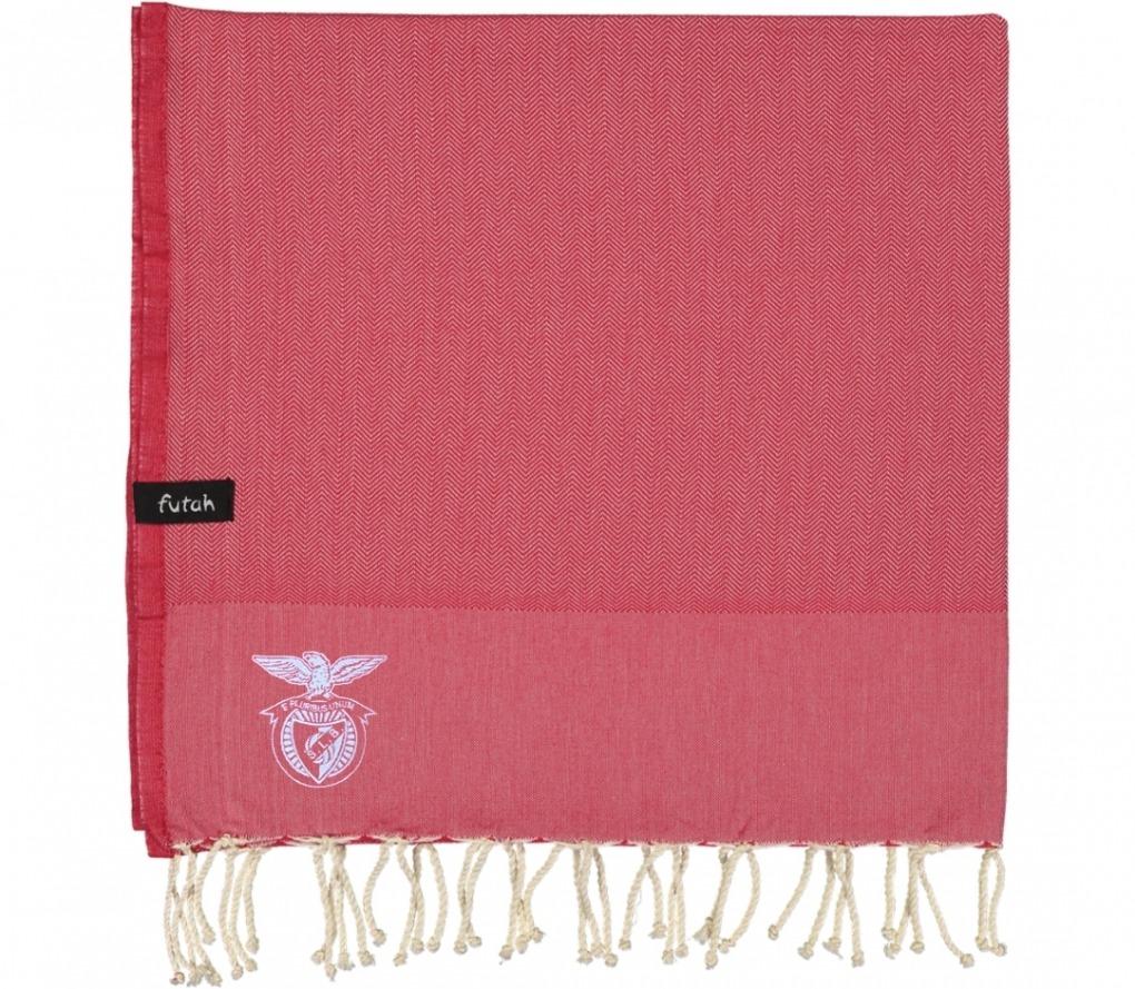 futah beach towels single Benfica Single Towel Tango Red Folded cópia