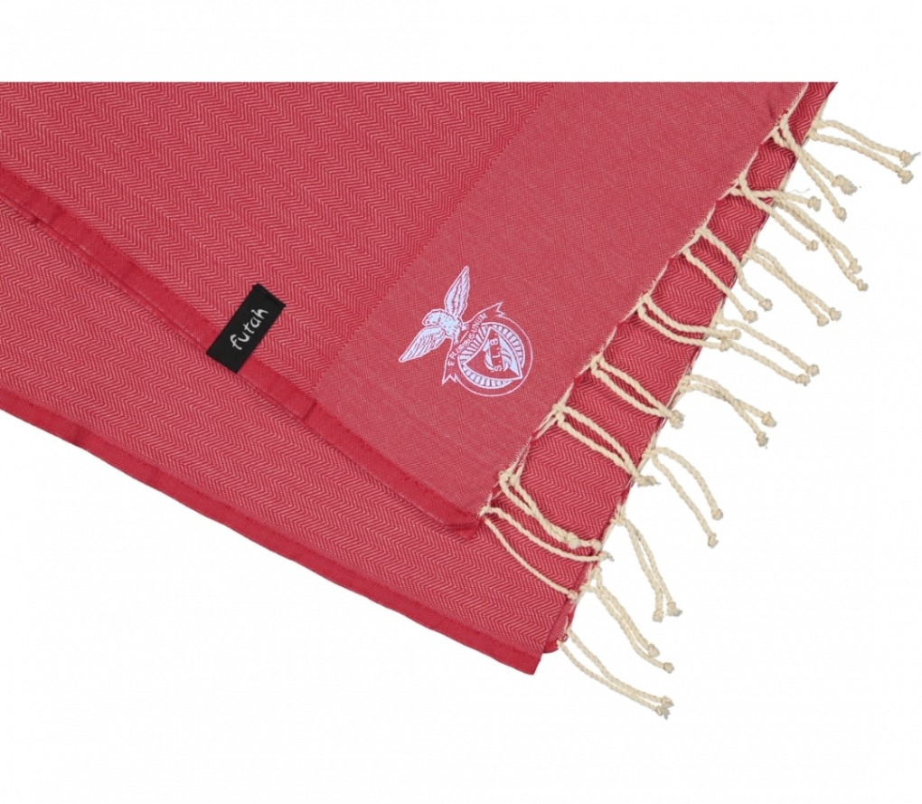 futah beach towels single Benfica Single Towel Tango Red Detail cópia