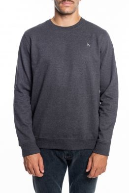 Futah - Ericeira Grey Fleece Crew Sweatshirt