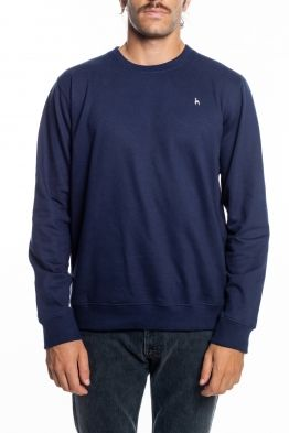 Futah - Ericeira Blue Fleece Crew Sweatshirt