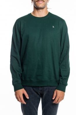 Futah - Ericeira Green Fleece Crew Sweatshirt