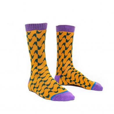 Futah - Guadiana Mustard and Green Socks