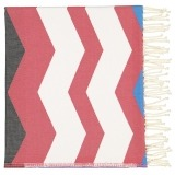 Futah_Beach_Towel_odeceixe red & black_Folded_min