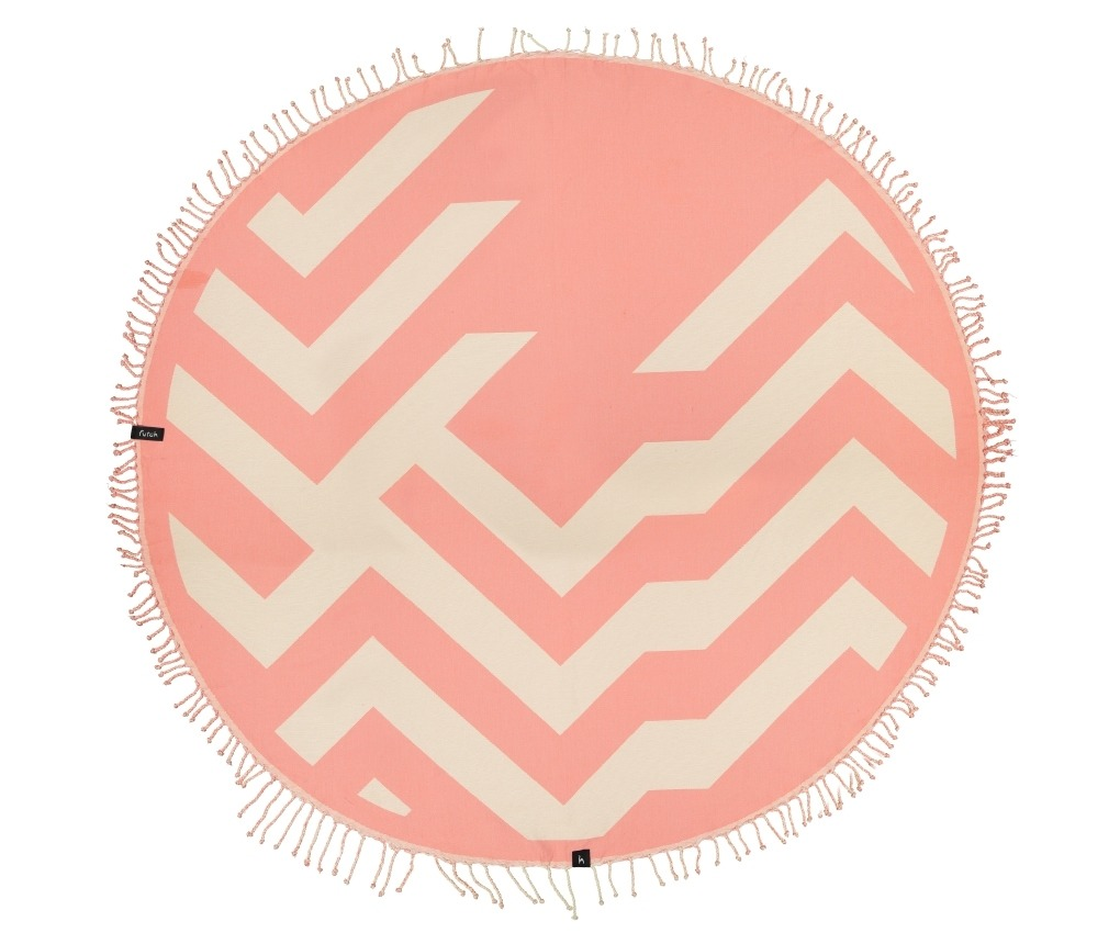 Round-Towel-Malcata-Coral-Front